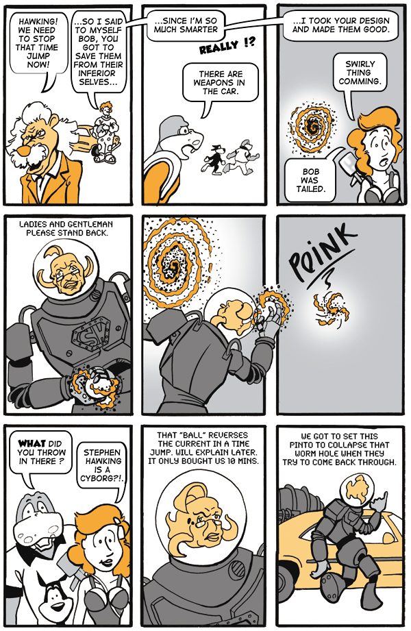 Time after Time page 12 Stephen Hawking kicks Butt